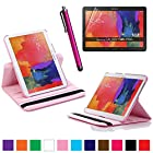360 Degree Rotating Cover Case With Screen Protector and Stylus for Samsung Galaxy Tab Pro 10.1 SM-T520 With Rotating Stand Galaxy tab Pro 10.1 SM-T520 case From SheathTM [ Do not Fit Galaxy Tab 2/3 10.1 Or Galaxy Note ] (Pink)