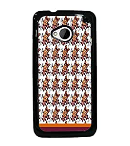 PrintDhaba Butterfly Pattern D-1614 Back Case Cover for HTC ONE M7 (Multi-Coloured)