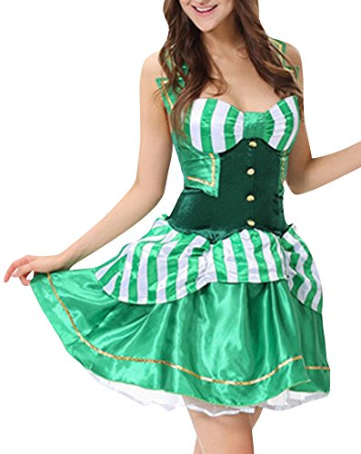 Fashionback Women's Halloween An Excellent Time Stage Cosplay Sexy Genie Dress