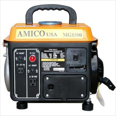 1000 W Gasoline Generator with Recoil Start