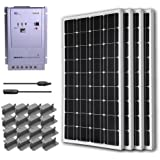 RENOGY® Premium Solar Panel Kit 400W Monocrystalline Off Grid: 4pc 100W Mono solar panel UL Listed+ 40A MPPT Charge Controller+ MC4 20ft Adapter Kit+ Mounting Z Brackets