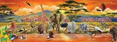 Melissa & Doug Safari Floor Puzzle 100 pcs by Melissa & Doug