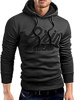 Grin&Bear slim fit Signatur Logo Jacke Kapuze Hoodie Sweatshirt Kapuzenpullover, GEC469