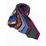 7Piece 100% Pure Silk Ties. Made in England. (214D)RRP£139.99
