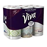 Viva Signature Designs Paper Towels Curated by Alyssa Milano Big Roll Print,6 Rolls (Pack of 4)