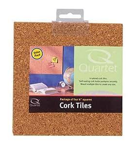 Quartet Natural Cork Tiles For Bulletin Boards