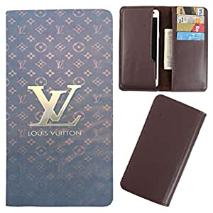 DooDa - For iberry Auxus Note 5.5 Gold PU Leather Designer Fashionable Fancy Case Cover Pouch With Card & Cash Slots & Smooth Inner Velvet