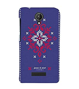 printtech Cloth Thread Design Back Case Cover for Micromax Canvas Spark Q380