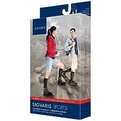 Buy Sigvaris Merino Outdoor Performance Wool Socks 20-30mmHg Closed Toe, ML, Olive by Sigvaris
