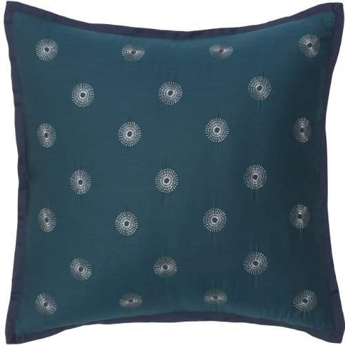 Modern Living Bianca Circle Embroidery Pillow, 16 By 16-Inch front-812242