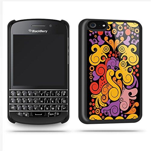 Black Pattern Multi Case Shell Cover Phone Case Shell For Blackberry Q10 - Black