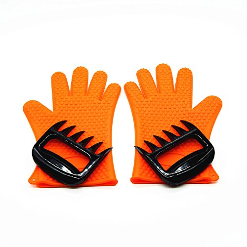 Barbecue Gloves & Pulled Pork Claws Set  Silicone