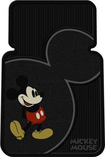 Vintage Mickey Mouse Universal-Fit Molded Front Floor Mats - Set of 2 (Disney Car Floor Mats compare prices)