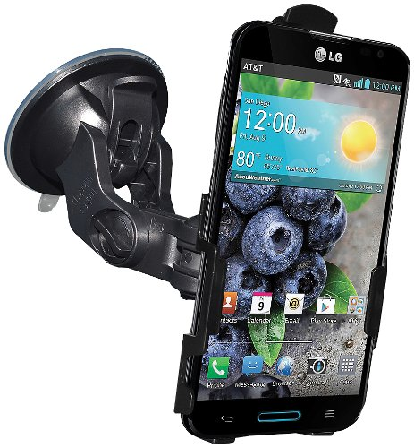 Amzer AMZ95859 Suction Cup Mount Holder for Windshield, Dash or Console for LG Optimus G Pro E980  - Retail Packaging - Black