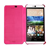 Heartly Dot View Touch Sensative Flip Thin Hard Shell Premium Bumper Back Case Cover For HTC Desire 826 - Cute...