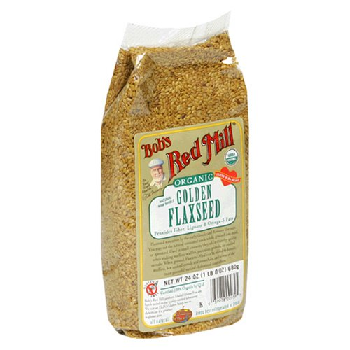 Bob's Red Mill Organic Golden Flaxseeds, 24-Ounce Packages (Pack of 4)