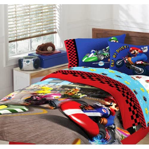 Amazon Com Super Mario Brothers Full Comforter Amp Sheet