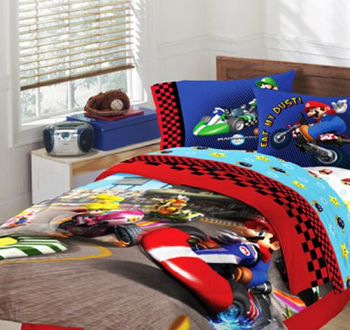 Super Mario Brothers Full Comforter & Sheet Set (5 Piece Bedding)