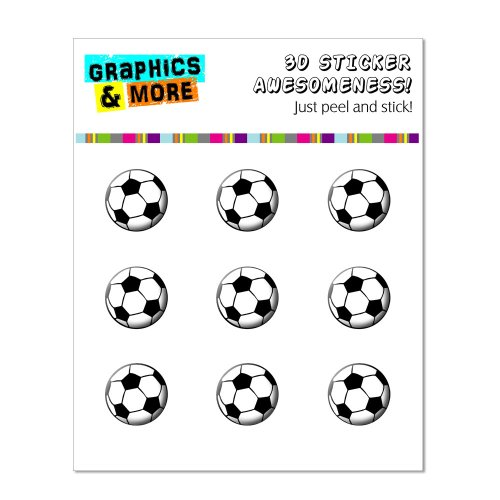 Graphics and More Soccer Ball - Sports Home Button Stickers Fits Apple iPhone 4/4S/5/5C/5S, iPad, iPod Touch - Non-Retail Packaging - Clear
