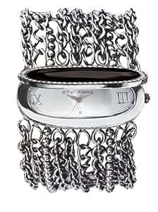 Betsey Johnson Women's BJ4103 Silver-Tone Gemstone Bracelet Watch