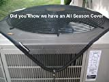 Central Outdoor Air Conditioner/Pool Pump Cover - Summer/All Season Top Protection From Leaves and Debris - 28x28 -Black