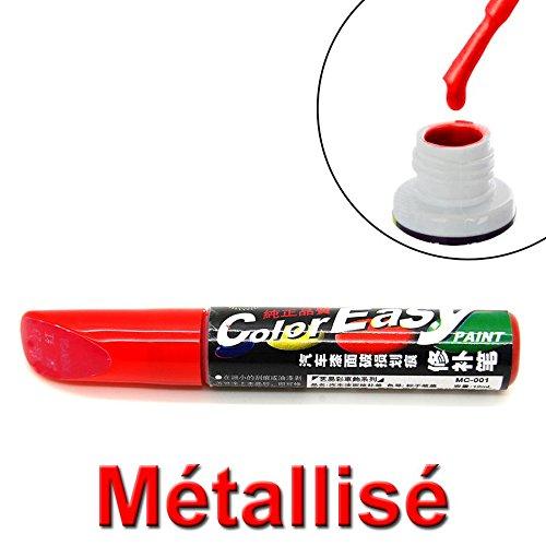 Pinceau de retouche peinture rouge metallis pour carrosserie - Retouche peinture mur ...