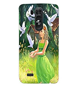 ColourCraft Cute Girl Design Back Case Cover for LG G3 BEAT
