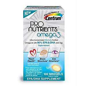 ProNutrients by the makers of Centrum, Omega 3, Minigels 100 ea