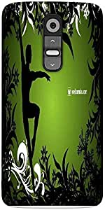 Snoogg Ballet Dancer Designer Protective Back Case Cover For LG G2