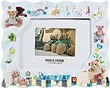 DD Tech Plastic Teddy Kids Photo Frame (17 cm x 14 cm x 2 cm, White)