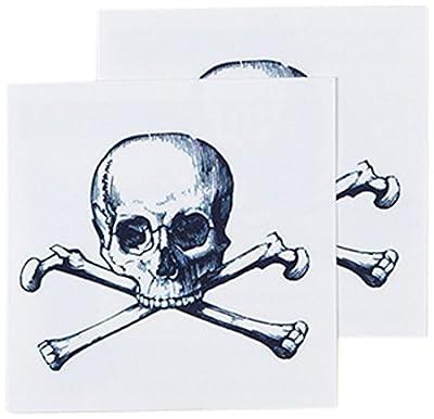Tattly Temporary Tattoos, Cartolina Skull, 0.1 Ounce