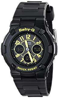 Casio Women's BGA-117-1B3CR Baby-G Analog-Digital Display Quartz Black Watch