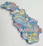 Hawaii the Aloha State Artwood / Decowood Jumbo Fridge Magnet