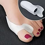 NPLE--1Pair Silicone Gel Toe Spacer Separator Straightener Spreader Bunion Pain Relief