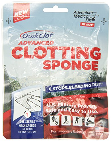 Quikclot Sport Brand Advanced Clotting Sponge ,Stop Bleeding Fast, 50 Gram Package