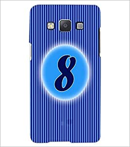 PrintDhaba Numerology Number 8 D-2563 Back Case Cover for SAMSUNG GALAXY A5 (Multi-Coloured)