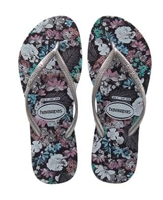 Amazon.com: Havaianas Women's Slim Floral Flip Flop,Grey,41/42 BR/11