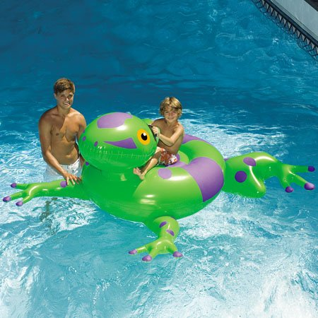 Swimline Giant Pool Frog Inflatable Ride-On front-984715