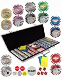 650 11.5 Gram Dual Pattern Clay Composite Gambling Poker Chip Chipset with Gaming Accessories.