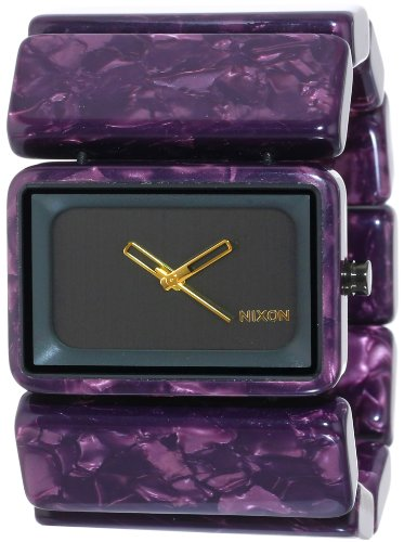 nixon-womens-vega-analog-watch-color-gunmetal-velvet