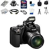Nikon COOLPIX P530 16.1 MP CMOS Digital Camera with 42x Zoom and Built in Flash (Black) + EN-EL5 Spare Battery + 32GB Deluxe Accessory Bundle Kit
