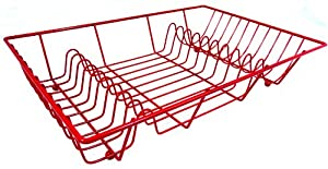 Quality Red Metal Sink Top Dish Drainer Matching Range
