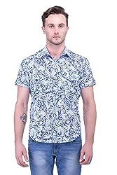 Trendster Multi Printed Half Sleeve Casual Linen Men's Shirt