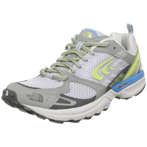 The North Face Women's Double-Track Spackle Grey/Exotic Green Trainer T0Atqejz9 3 UK