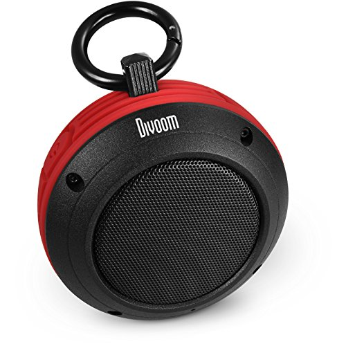 Divoom Voombox-travel Portable Ultra Rugged and Water Resistant Bluetooth 4.0 Wireless Speaker with Speakerphone Color Red