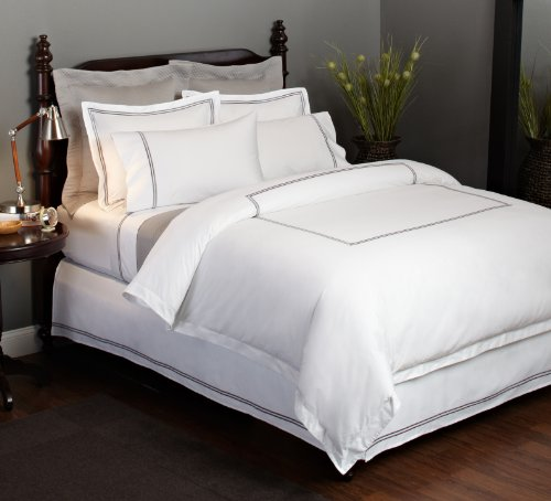 Great Features Of Pinzon Hotel Stitch 400-Thread-Count Egyptian Cotton Sateen Full/Queen Duvet Cover...
