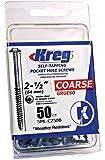 Kreg SML-C250B-50  Blue-Kote WR Pocket Screws  2-1/2-Inch, 8 Coarse, Washer-Head, 50-Count