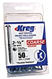 Kreg SML-C250B-50  Blue-Kote WR Pocket Screws  2-1/2-Inch, 8 Coarse, Washer-Head, 50-Count