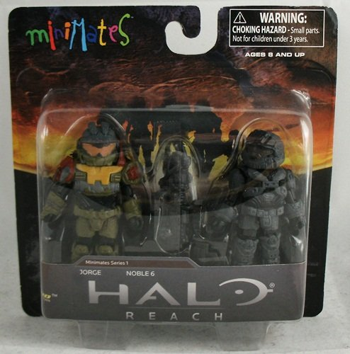 Picture of Diamond Select Halo Minimates Series 1 Mini Figure 2Pack Jorge Noble 6 (B004GMQBHO) (Halo Action Figures)