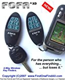 2-Way RF FOFA Find One Find All Key Finder, Wallet Finder, Cell Phone Finder, Remote Control Locator. Set of 2